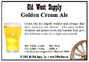 Golden Cream Ale