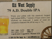 79 A.D. Double IPA Recipe Kit