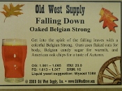 Falling Down Oaked Belgian Strong Recipe Kit (Fall Seasonal)