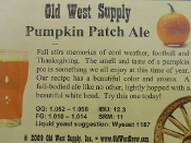 Pumpkin Patch Ale Recipe Kit (seasonal)