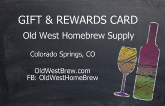 Old West Homebrew Supply Gift Cards